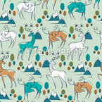 Gracious Deer Seamless Vector Pattern Design