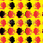 Pop Art Flower Print Design Pattern