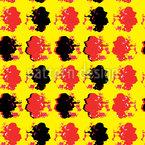 Popart Flower Print Nahtloses Vektormuster