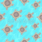 Dekorative Turtle Nahtloses Vektor Muster