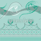 Moulin Vert Estampado Vectorial Sin Costura