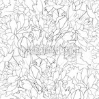 Endless Peony Seamless Vector Pattern Design