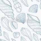Seashells Seamless Vector Pattern