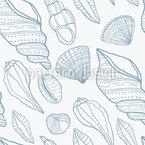 Conchas Design de padrão vetorial sem costura