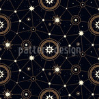 Stars and Constellations Seamless Vector Pattern Design