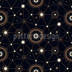 Sterne und Sternbilder Vektor Muster