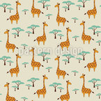 Cute Giraffes Seamless Vector Pattern Design