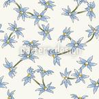 Blauer Blumenregen Nahtloses Vektormuster