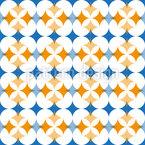 Floral Meeting Of Rhombuses Seamless Pattern