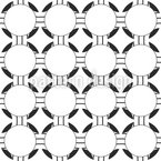 Compound Arrangement Of Circles Seamless Vector Pattern