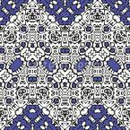 Ziguezague Ornado Design de padrão vetorial sem costura