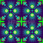 Peacock Feather Seamless Vector Pattern Design