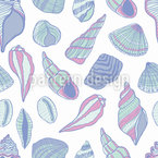Shells Seamless Vector Pattern Design