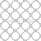 穴横の穴 シームレスなベクトルパターン設計