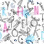 ABC Buchstaben Musterdesign