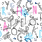 ABC Buchstaben Nahtloses Vektormuster