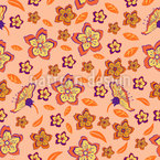 Tropische Flower Power Vektor Design
