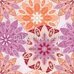 Blumen Mandala Nahtloses Vektormuster