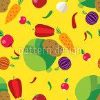 Gemüse Nahtloses Vektormuster