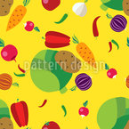 Vegetables Seamless Vector Pattern Design
