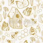 Honey Meadows Seamless Vector Pattern Design