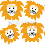 Lion Heads Repeating Pattern