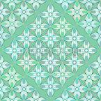 Hortensien Geometrie Nahtloses Vektormuster