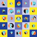 Lernen Des Alphabets Nahtloses Vektormuster