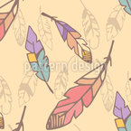 Parrot Feathers Vector Pattern