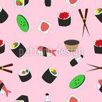 寿司セット シームレスなベクトルパターン設計