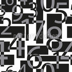 Integers Seamless Vector Pattern Design