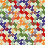 Weave It Colorful Seamless Vector Pattern Design