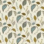 Blätter Allein Nahtloses Vektormuster