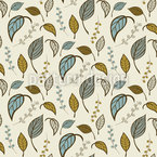 Leaves Alone Seamless Vector Pattern Design