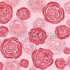 Rosenblüten Rot-Rosa Nahtloses Vektormuster