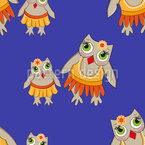 Mrs Owl And Her Daughter Vector Ornament