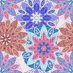 Flower Mandala Dream Seamless Vector Pattern Design