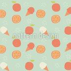 Eiscreme und Orangen Nahtloses Vektormuster
