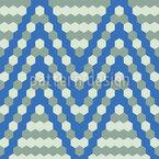 Beehive Chevron Seamless Vector Pattern Design