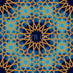 Arab Stars Seamless Vector Pattern Design