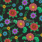 Summer Folklore Seamless Vector Pattern Design