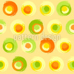 Sunny Grunge Circles Seamless Vector Pattern Design