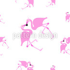 Flamingos In Love Vector Ornament
