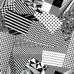 Monochrom Mix Nahtloses Vektor Muster