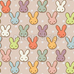 Cute Rabbits Seamless Vector Pattern Design