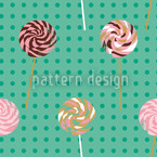 Lollipop Polkadot Seamless Vector Pattern Design