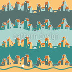 Cheerful City Pattern Design