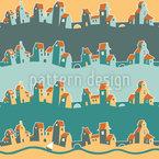 Fröhliche Stadt Muster Design