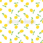 Lemon Fruit Seamless Vector Pattern