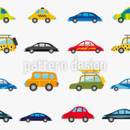 Funny Cars Vector Pattern